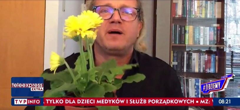 """Jarosław Jakimowicz w programie """"#Jedziemy"""" /tvp.info/screen z programu """"#Jedziemy"""" /Nostalgia"""