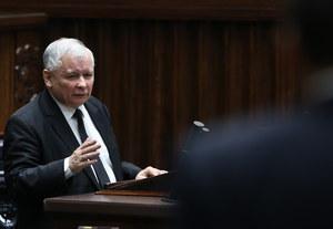 Jarosław Kaczyński chwali i gani Sikorskiego