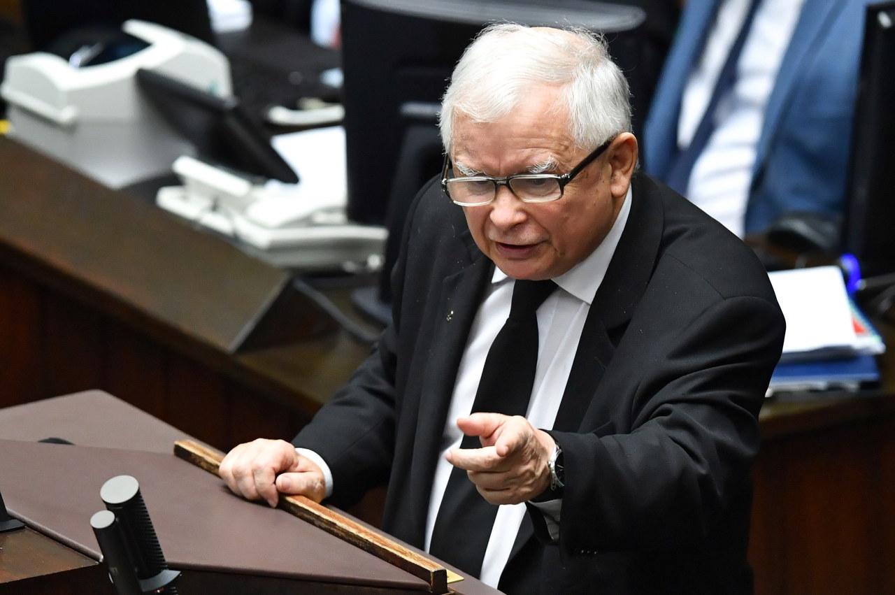 Jarosław Kaczyński do opozycji: Jesteście przestępcami. Możecie sobie wrzeszczeć