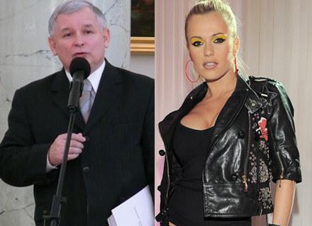 """Jarosław Kaczyński, Dorota """"Doda"""" Rabczewska (fot. Tomek Piekarski) /MWMedia"""
