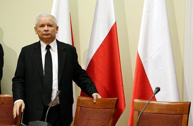 Jarosław Kaczyński dzisiaj w Sejmie /PAP
