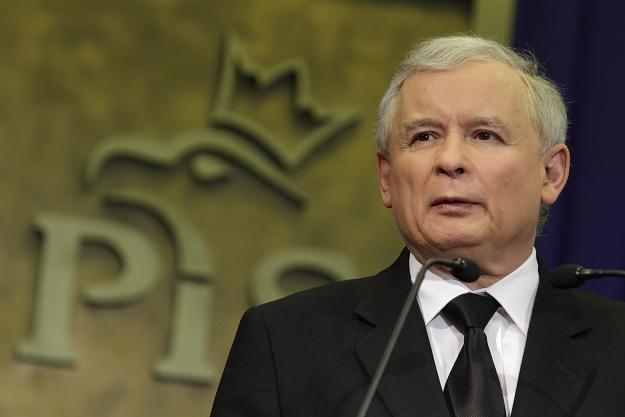 Jarosław Kaczyński, fot. B. Zborowski /PAP