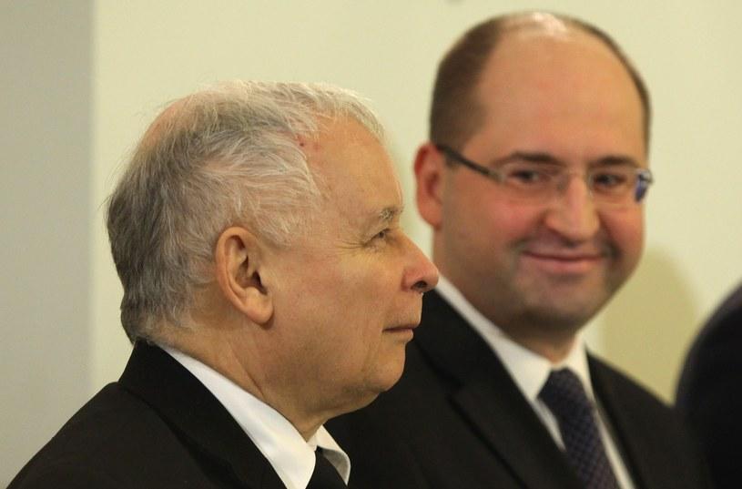 Jarosław Kaczyński i Adam Bielan /Stefan Maszewski /Reporter