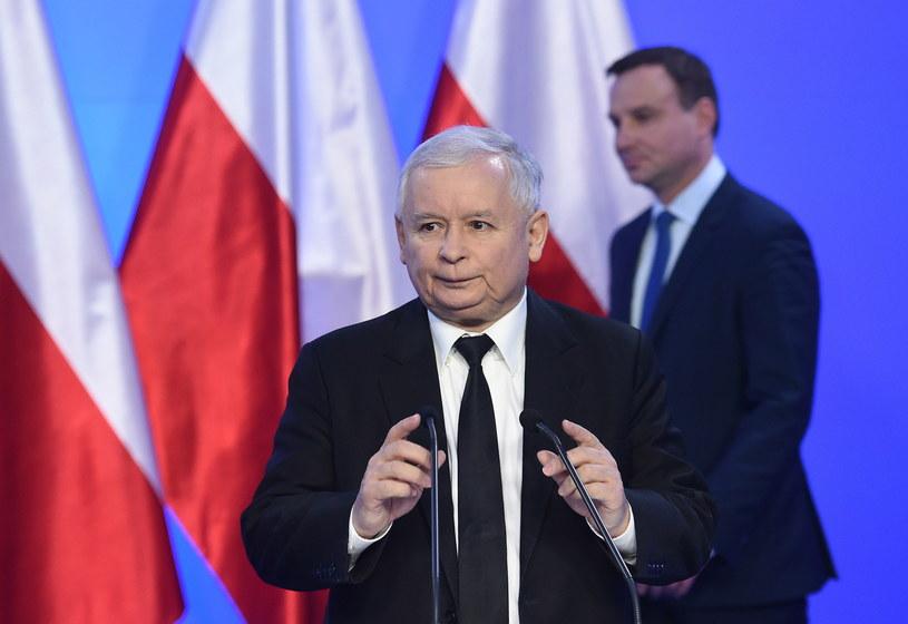 Jarosław Kaczyński i Andrzej Duda /Radek Pietruszka /PAP