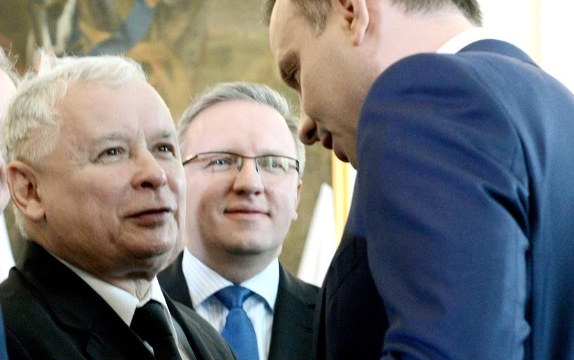 Jarosław Kaczyński i Andrzej Duda /Jacek Turczyk /PAP