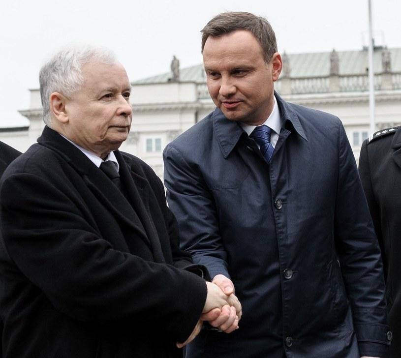 Jarosław Kaczyński i Andrzej Duda /Rafał Oleksiewicz /Reporter