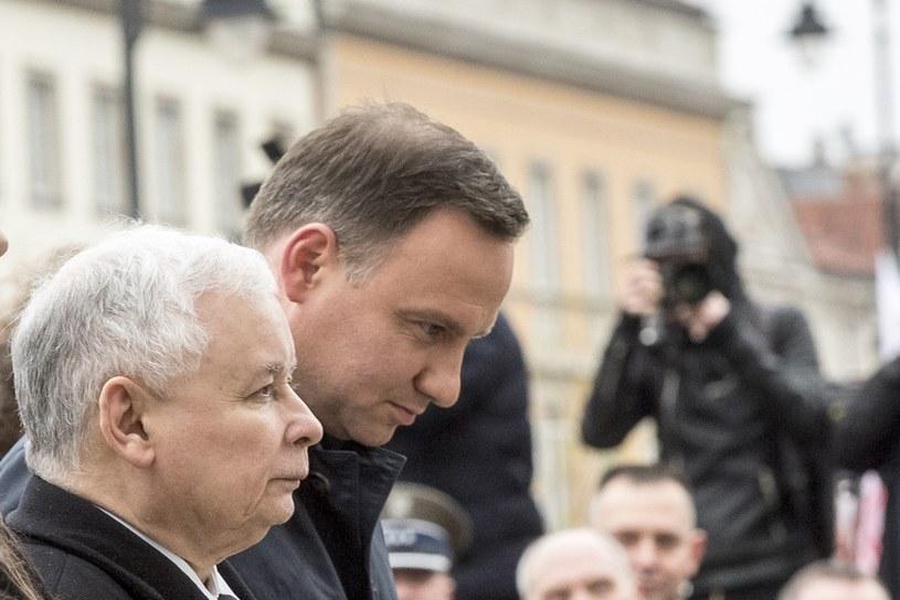 Jarosław Kaczyński i Andrzej Duda /Jacek Domiński /Reporter