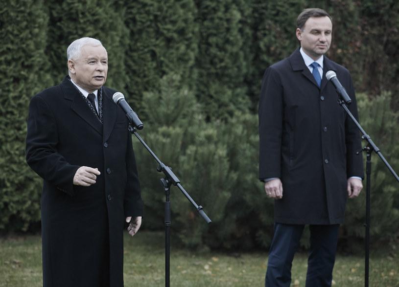 Jarosław Kaczyński i Andrzej Duda /Michał Tuliński /Agencja FORUM