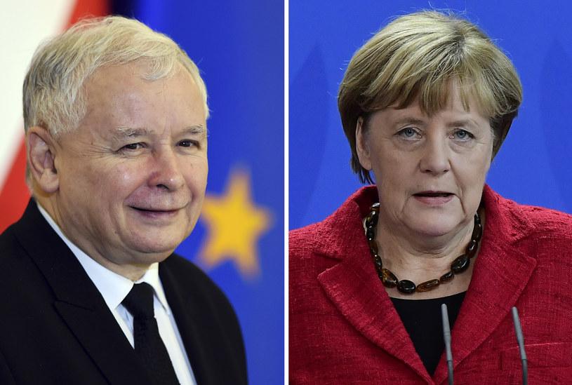 Jarosław Kaczyński i Angela Merkel: Pragmatyczny postęp jest jednak możliwy? /TOBIAS SCHWARZ /AFP