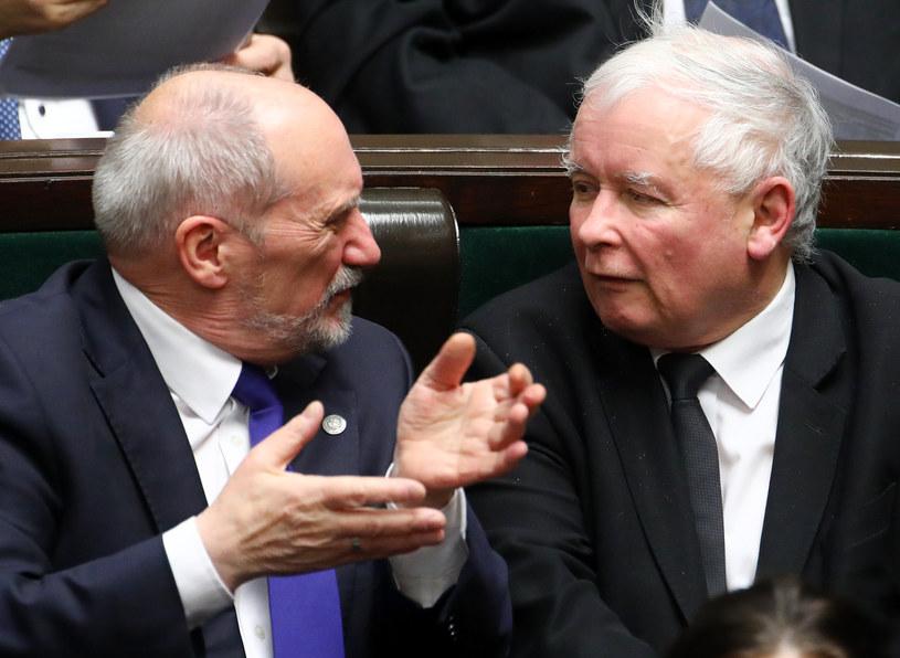 Jarosław Kaczyński i Antoni Macierewicz /STANISLAW KOWALCZUK /East News