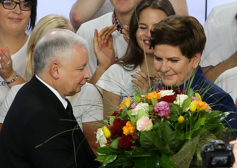 Jarosław Kaczyński i Beata Szydło /Paweł Supernak /PAP