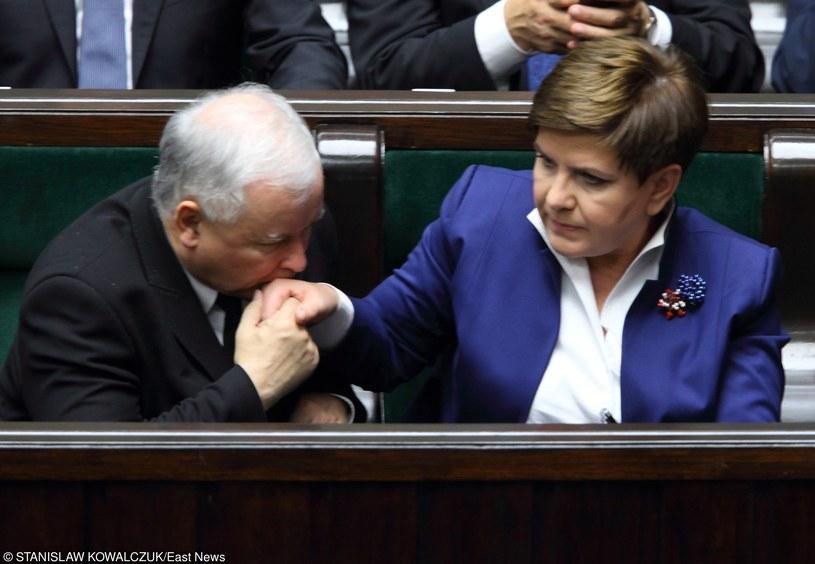 Jarosław Kaczyński i Beata Szydło /Stanisław Kowalczuk /East News