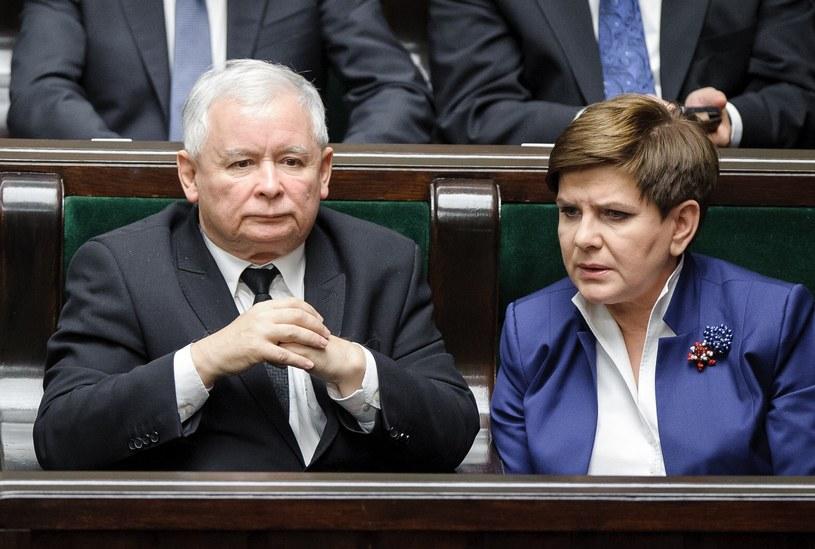 Jarosław Kaczyński i Beata Szydło /Rafal Oleksiewicz /Reporter