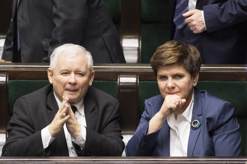 Jarosław Kaczyński i Beata Szydło /Maciej Luczniewski /Reporter