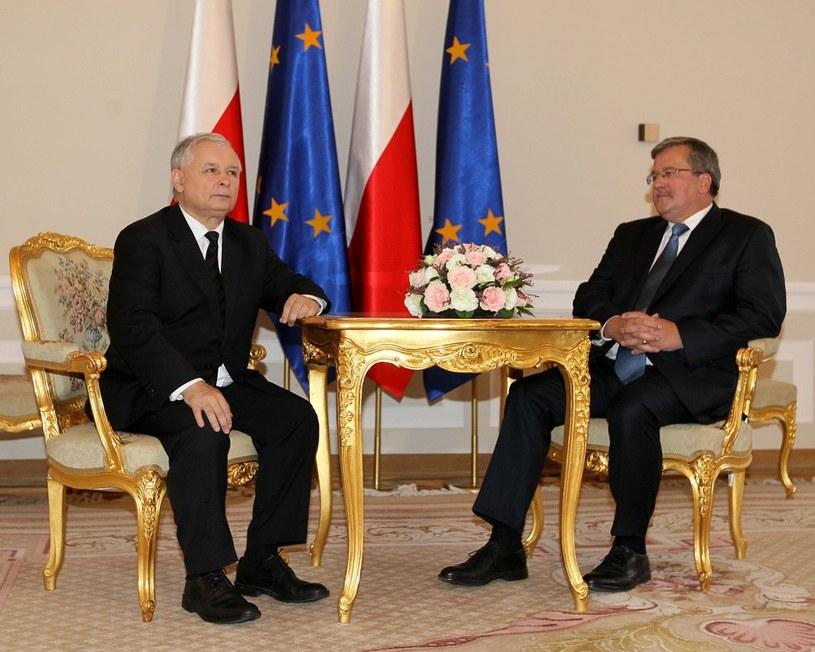 Jarosław Kaczyński i Bronisław Komorowski /Andrzej Iwańczuk /Reporter