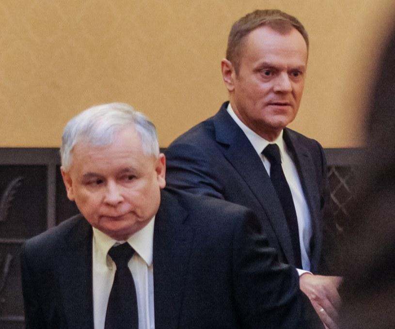 Jarosław Kaczyński i Donald Tusk idą łeb w łeb /Agencja FORUM