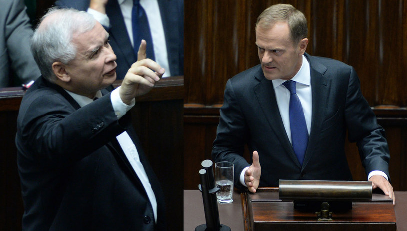 Jarosław Kaczyński i Donald Tusk. /Jacek Turczyk /PAP