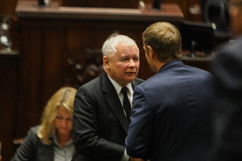 Jarosław Kaczyński i Donald Tusk /Piotr Grzybowski /East News