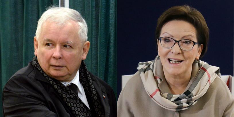 Jarosław Kaczyński i Ewa Kopacz /Jacek Turczyk/Paweł Supernak /PAP