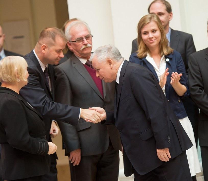 Jarosław Kaczyński i Jacek Cieślikowski /Jacek Domiński /Reporter