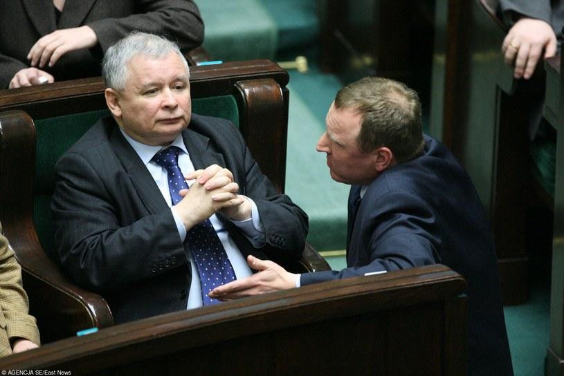 Jarosław Kaczyński i Jacek Kurski /Piotr Bławicki /Agencja SE/East News