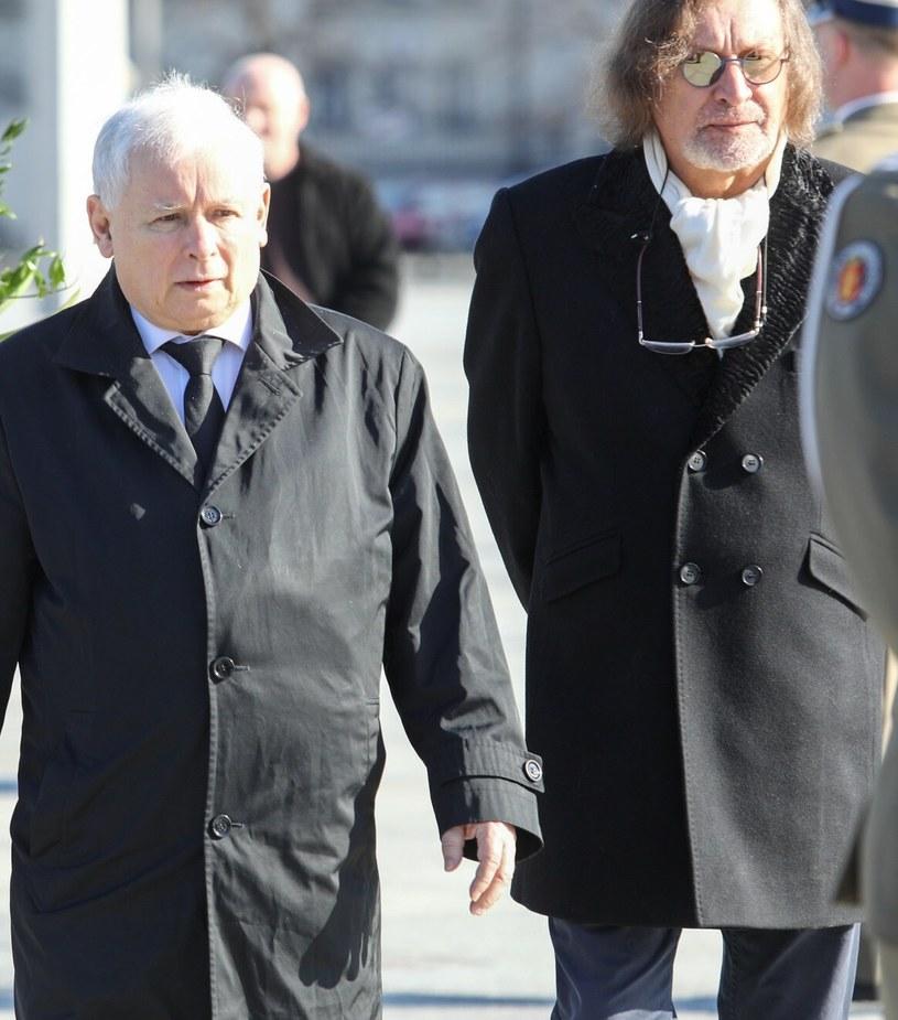 Jarosław Kaczyński i Jan Maria Tomaszewski / Adam Jastrzebowski /Reporter