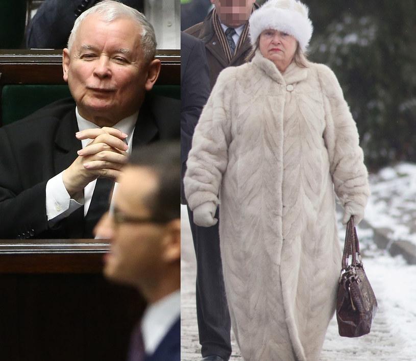 Jarosław Kaczyński i Janina Goss /Agencja FORUM