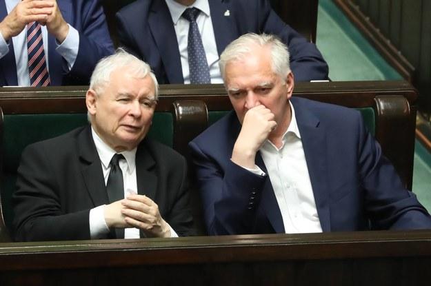 Jarosław Kaczyński i Jarosław Gowin (zdj. archiwalne) / Tomasz Gzell    /PAP