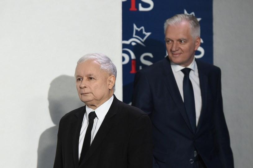 Jarosław Kaczyński i Jarosław Gowin /Rafał Oleksiewicz /Reporter