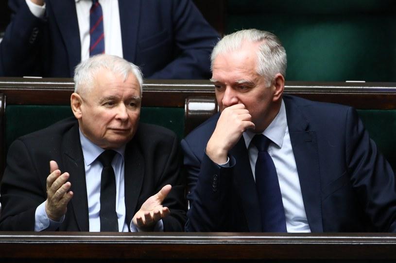 Jarosław Kaczyński i Jarosław Gowin /STANISLAW KOWALCZUK /East News