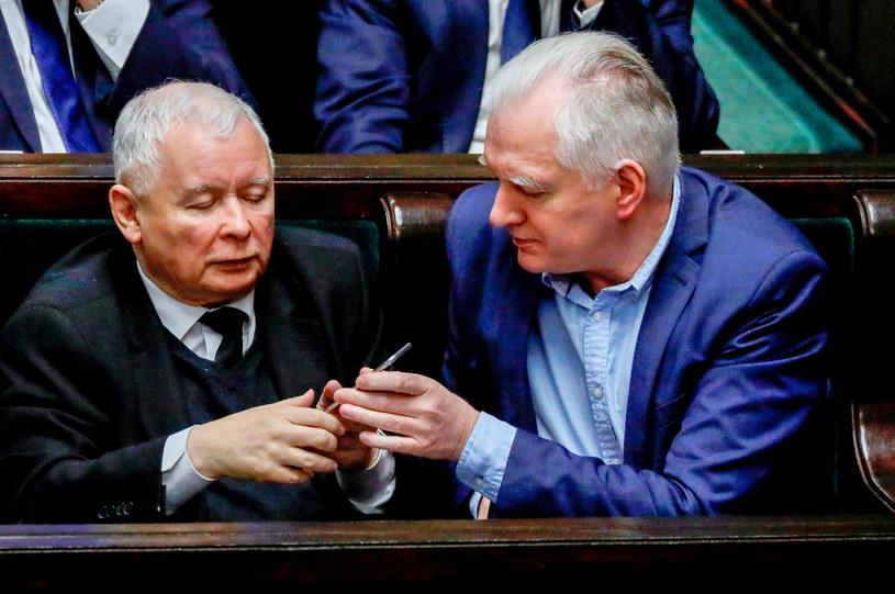 Jarosław Kaczyński i Jarosław Gowin /Piotr Molecki /East News