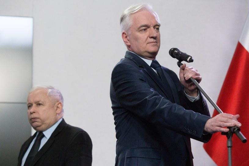 Jarosław Kaczyński i Jarosław Gowin /Jacek Łagowski /Agencja FORUM