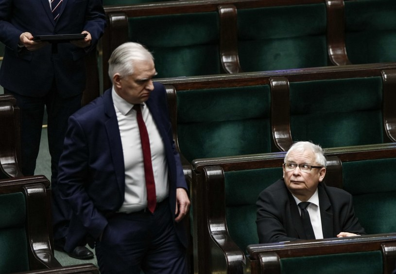 Jarosław Kaczyński i Jarosław Gowin /Jerzy Dudek /Agencja FORUM