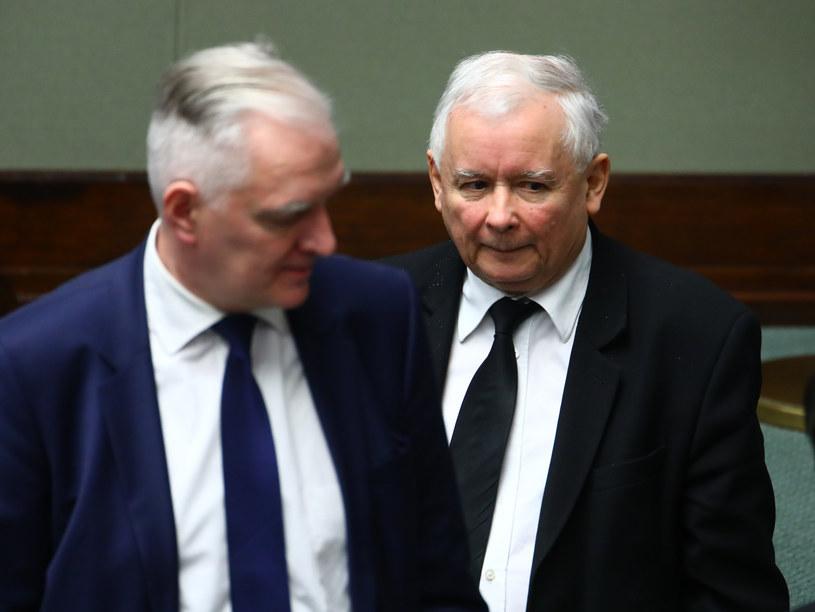 Jarosław Kaczyński i Jarosław Gowin /Stanisław Kowalczuk /East News
