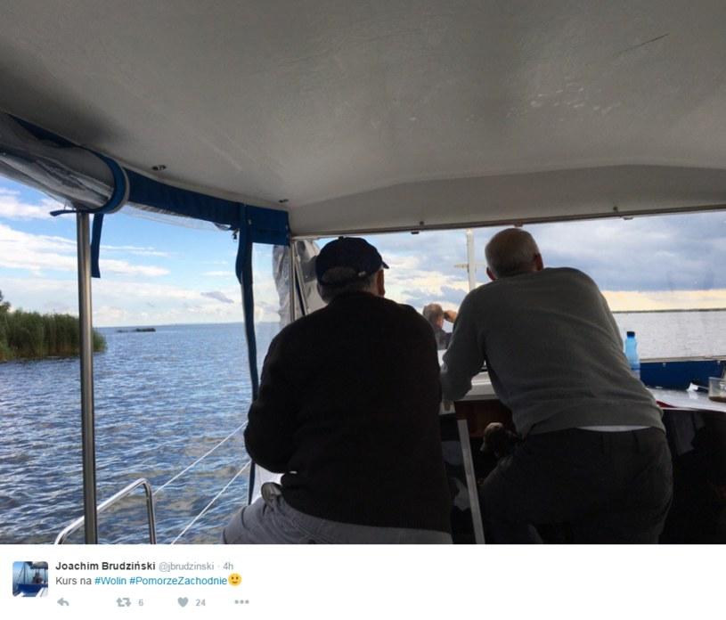 Jarosław Kaczyński i Joachim Brudziński /Twitter