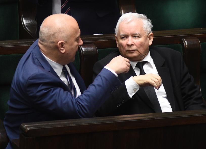Jarosław Kaczyński i Joachim Brudziński /Adam Chelstowski /Agencja FORUM