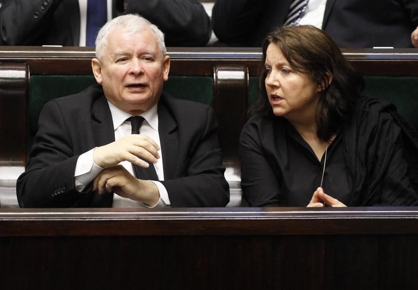 Jarosław Kaczyński i Joanna Lichocka / fot. Stefan Maszewski /Reporter