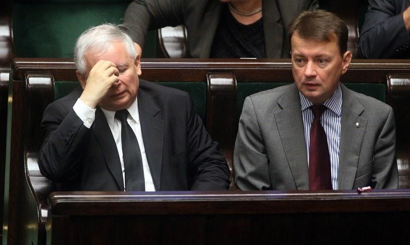 Jarosław Kaczyński i Mariusz Błaszczak /Mariusz Grzelak /Reporter