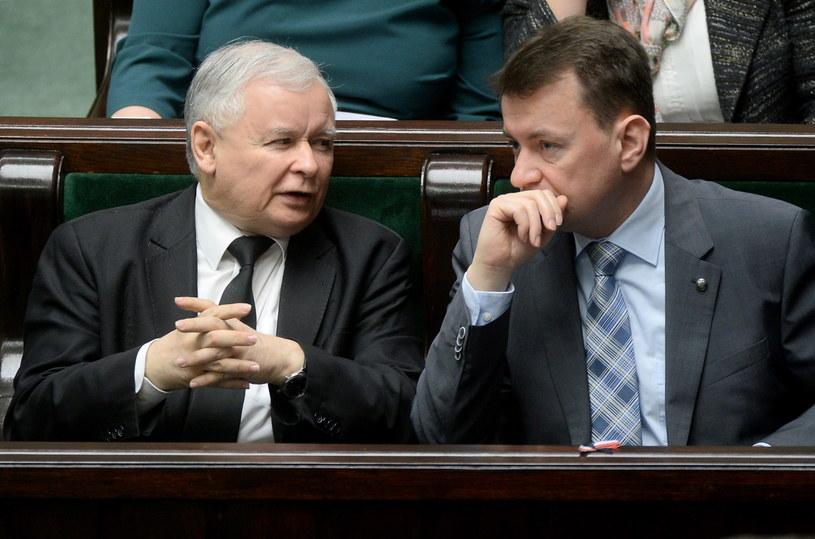 Jarosław Kaczyński i Mariusz Błaszczak /Bartłomiej Zborowski /PAP