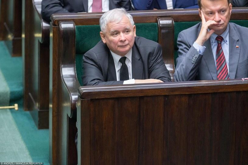 Jarosław Kaczyński i Mariusz Błaszczak /Andrzej Iwańczuk/Reporter /East News