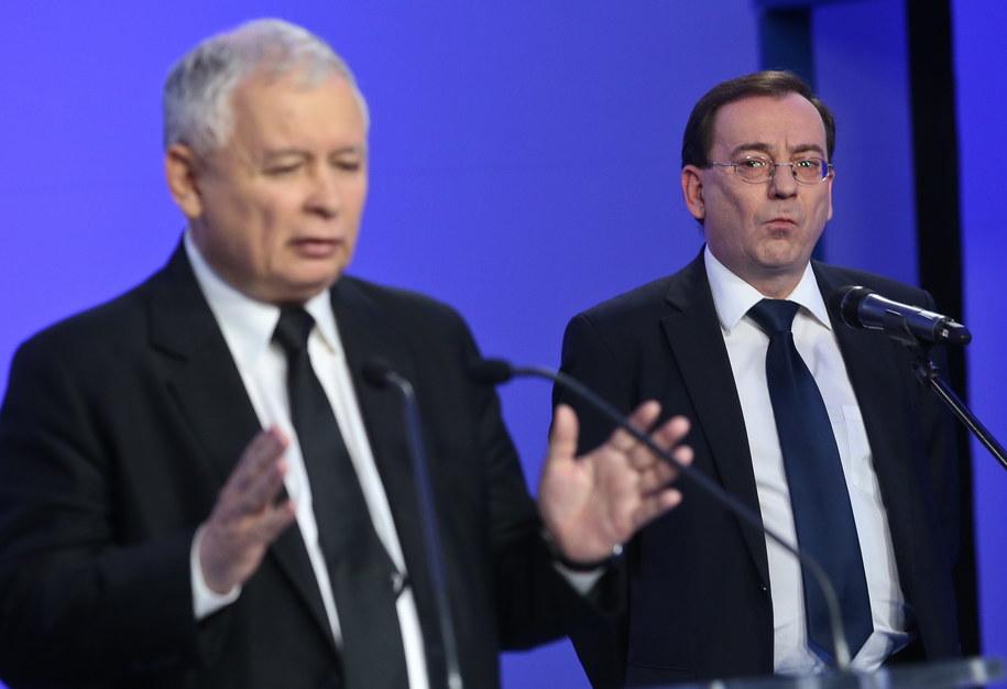 Jarosław Kaczyński i Mariusz Kamiński /Rafał Guz /PAP
