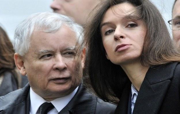 Jarosław Kaczyński i Marta Kaczyńska /East News