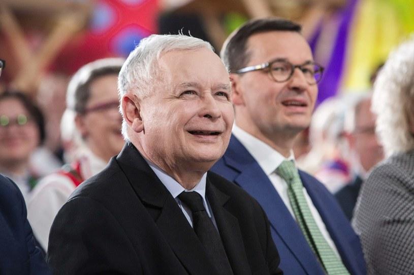 Jarosław Kaczyński i Mateusz Morawiecki /Marek Maliszewski  /Reporter