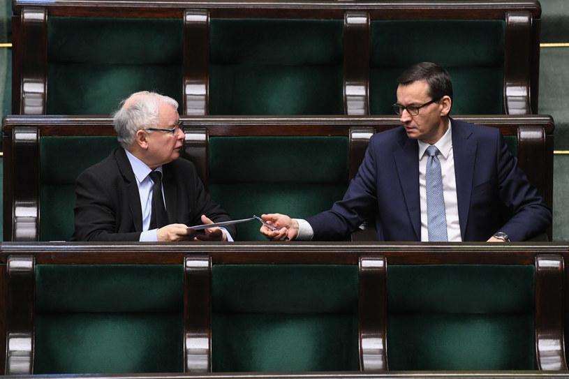Jarosław Kaczyński i Mateusz Morawiecki /Jacek Dominski/ /Reporter