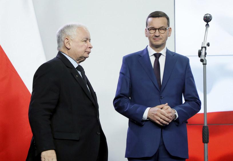 Jarosław Kaczyński i Mateusz Morawiecki /East News