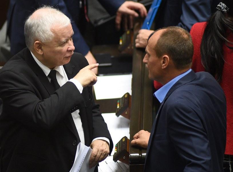 Jarosław Kaczyński i Paweł Kukiz /Adam Chełstowski /Agencja FORUM