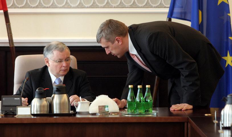 Jarosław Kaczyński i Roman Giertych. Zdjęcie z 2007 roku /Karol Piechocki /Reporter