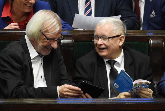 Jarosław Kaczyński i Ryszard Terlecki /Radek Pietruszka /PAP