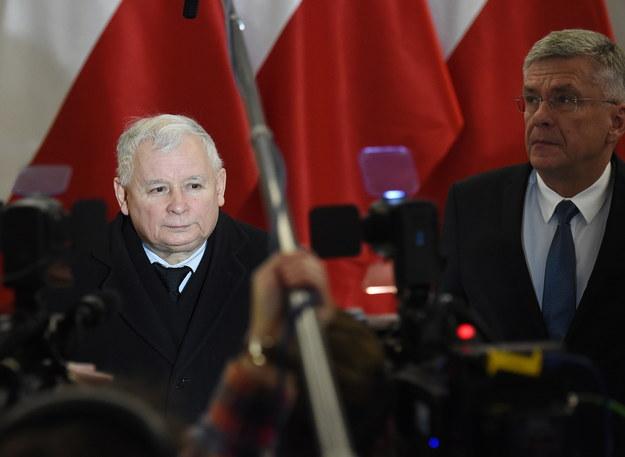 Jarosław Kaczyński i Stanisław Karczewski /PAP/Radek Pietruszka    /PAP