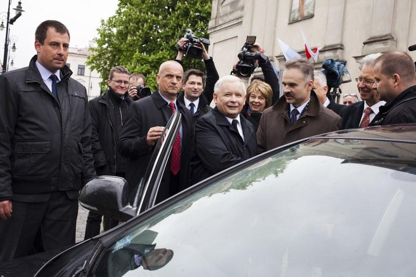 Jarosław Kaczyński i Waldemar Paruch (po prawej) /fot. Lidia Mukhamadeeva /Reporter